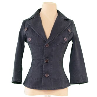 It is race up Lady's ♯ 40 size tailored black cotton COTTON/100 % popularity L1748 after Dis kelp grouper ard DSQUARED2 jacket.