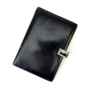 【中古】 【送料無料】 グッチ 手帳カバー レディース ブラック Gucci N187