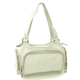 Cole Haan Cole Haan挎包小宽底旅行皮包女士ZIP口袋白×银子×粉红皮革派(对应)非常便宜的促销N258