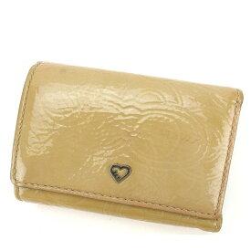 5204b1683969 【中古】 【送料無料】 コーチ COACH Wホック財布 三つ折り財布 レディース