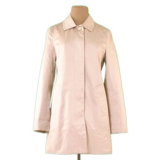 Coach COACH coat single long lady's ♯ XS size convertible collar beige C/100 % (lining) PE/56 % C/44 % quality goods sale P703.