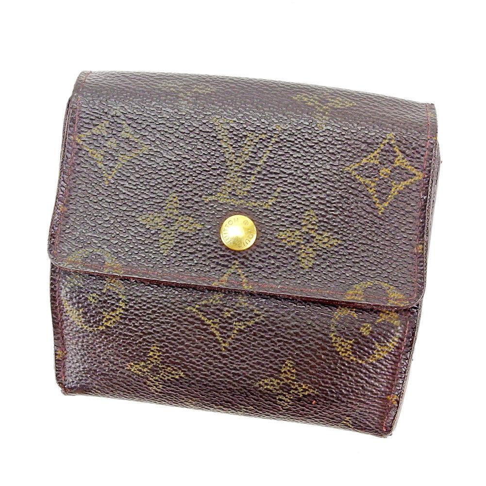 【中古】 【送料無料】 ルイ ヴィトン Wホック 財布 三つ折り ブラウン S557s