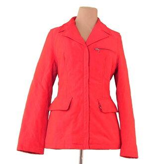 Prada coat red X silver T1111s.
