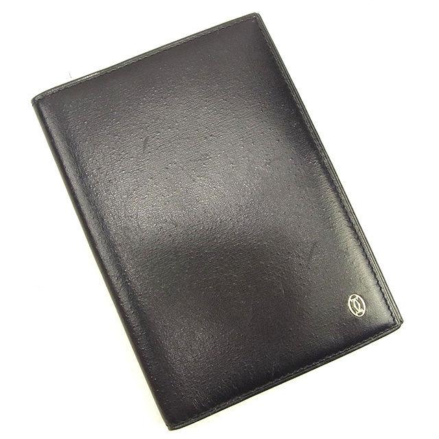 【中古】 【送料無料】 カルティエ Cartier 手帳カバー レディース メンズ 可 パシャ ブラック レザー 人気 T1118