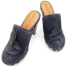 【中古】 【送料無料】 マークバイ マークジェイコブス サンダル シューズ 靴 ブラック×ブラウン×アンティークゴールド T2278s .