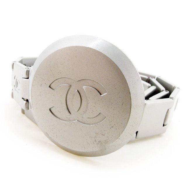 【中古】 【送料無料】 シャネル ベルト チェーンベルト レディース ココマーク シルバー シルバーメタル Chanel T2502 .