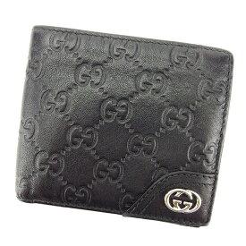 9e635674610d 中古 【中古】 【送料無料】 グッチ Gucci 二つ折り 財布 レディース メンズ 可 グッチシマ ブラック レザー 人気 T2771s .