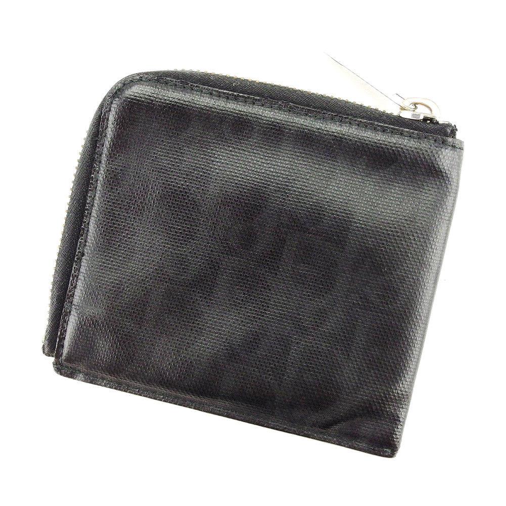 【中古】 【送料無料】 ディオール オム Dior Homme 財布 L字ファスナー メンズ トロッター ブラック×シルバー系 PVC 人気 T3911