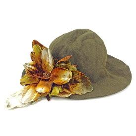【中古】 【送料無料】 ミュウミュウ 帽子 ダークブラウン系 T4399s