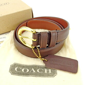 Coach belt ♯ SMALL brown X gold T4461s