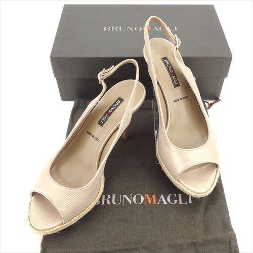 【中古】 【送料無料】 ブルーノマリ BRUNOMACLI サンダル 靴 シューズ レディース #37 ベージュ 未使用品 T5904