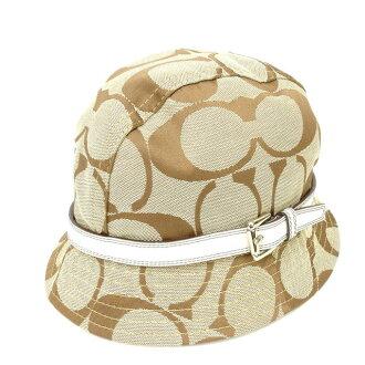 Coach COACH hat #M/L signature beige canvas (correspondence) popularity quality goods Y1019