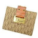 【中古】 クリスチャン ディオール カードケース カード トロッター ブラウン Christian Dior 【ディオール】 T12155