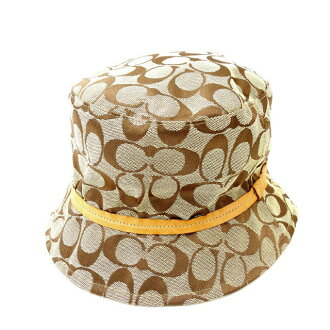 Coach COACH hat #P/S men's possible signature beige canvas (correspondence) popularity quality goods Y1291