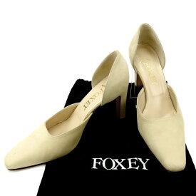 【ポイント10倍】 【中古】 フォクシー パンプス #36 1/2 ベージュ FOXEY T12087