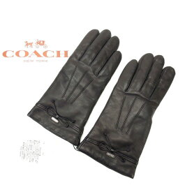 【中古】 コーチ 手袋 7ハーフ ブラック COACH 【コーチ】 T14380 .