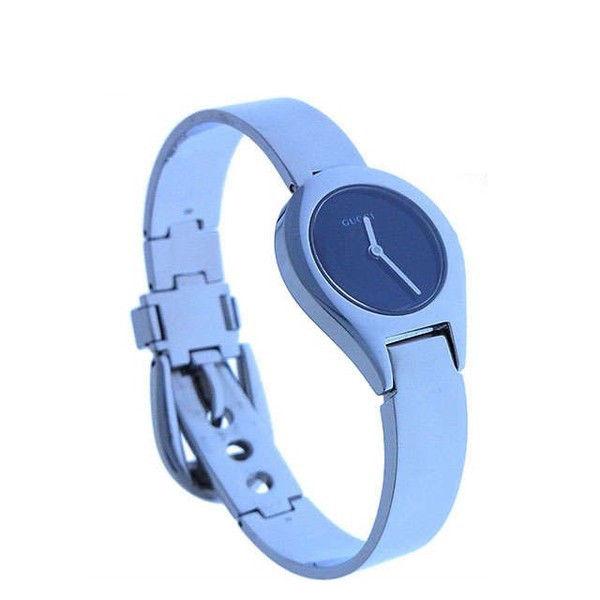 【中古】 【送料無料】 グッチ 腕時計 クォーツ レディース ラウンドフェイス シルバー×ブラック Gucci Y2469
