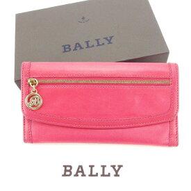 4d27c38dd53c 【中古】 バリー Bally 長財布 財布 Wホック ピンク×ゴールド レディース Y2917s .