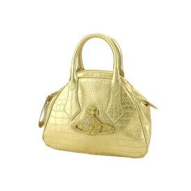 【中古】 ヴィヴィアン ウエストウッド ハンドバッグ チャンセリー ゴールド Vivienne Westwood バック 手持ちバッグ ファッション ブランド ブランドバッグ 収納 人気 贈り物 迅速発送 在庫処分 男性 女性 良品 1点物 【送料無料】 T14731