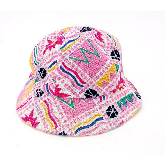 【中古】 【送料無料】 バレンシアガ 帽子 ハット レディース ミックス柄 ♯Mサイズ ホワイト×ピンク系 Balenciaga Y4824 .