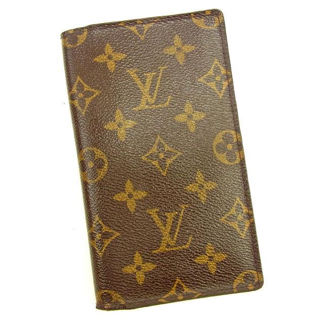 【中古】 【送料無料】 ルイ ヴィトン 手帳カバー ブラウン Y6043s