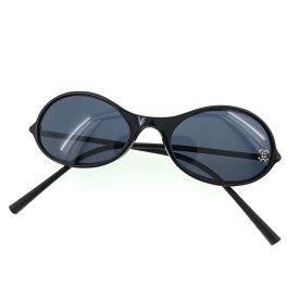 【中古】 【送料無料】 シャネル サングラス メガネ メンズ可 ココマーク フルリム ブラック系 プラスティック×シルバー金具 Chanel T12016