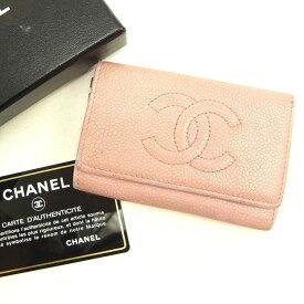 b426cb7eb343 【中古】 シャネル Chanel キーケース ピンク×ゴールド ヴィンテージ ココマーク レディース Y7020s