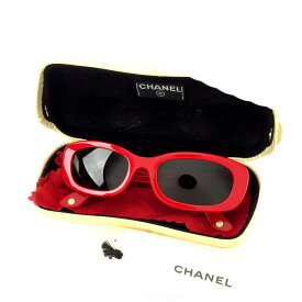【中古】 【送料無料】 シャネル サングラス レディース レッド Chanel T14821