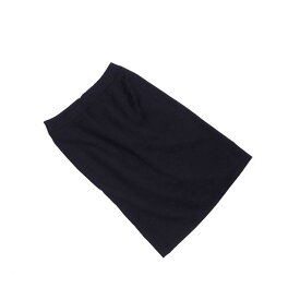 【中古】 【送料無料】 アンタイトル UNTITLED スカート ヒザ丈 レディース ♯1サイズ 後スリット入り タイトシルエット ブラック PE 60%RY 35%PU 5%(裏地)PE 100% (あす楽対応) 美品 A755s