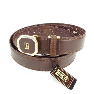 Daks 是 DAKS 带 # 60 男士棕色和金色皮革和金色材料和受欢迎的 C2237