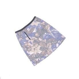 【中古】 【送料無料】 ロートレアモン LAUTREAMONT スカート フレアーシルエット レディース ♯38サイズ リゾートフラワー ブルー×ベージュ系 未使用品 L2101s