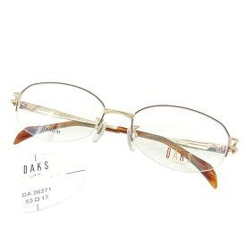 【中古】 【送料無料】 ダックス DAKS 眼鏡 メガネ レディース メンズ 可 展示品未使用 ゴールド×ブラウン 未使用品 T1598s