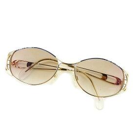 【中古】 【送料無料】 カザール CAZAL サングラス メンズ可 ブラウン×ネイビー×ゴールド プラスティック 美品 訳あり T3123s