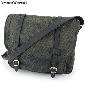 【中古】 ヴィヴィアン ウエストウッド ショルダーバッグ ワンショルダー バッグ レディース メンズ オーブ ブラック ゴールド キャンバス Vivienne Westwood T17385