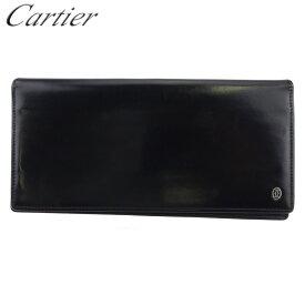 【中古】 カルティエ 長財布 ファスナー付き 財布 メンズ パシャ ブラック シルバー レザー Cartier 【カルティエ】 L2959