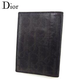 【中古】 ディオール オム カードケース 名刺入れ メンズ トロッター ブラック系 シルバー PVC×レザー Dior Homme G1516 ブランド