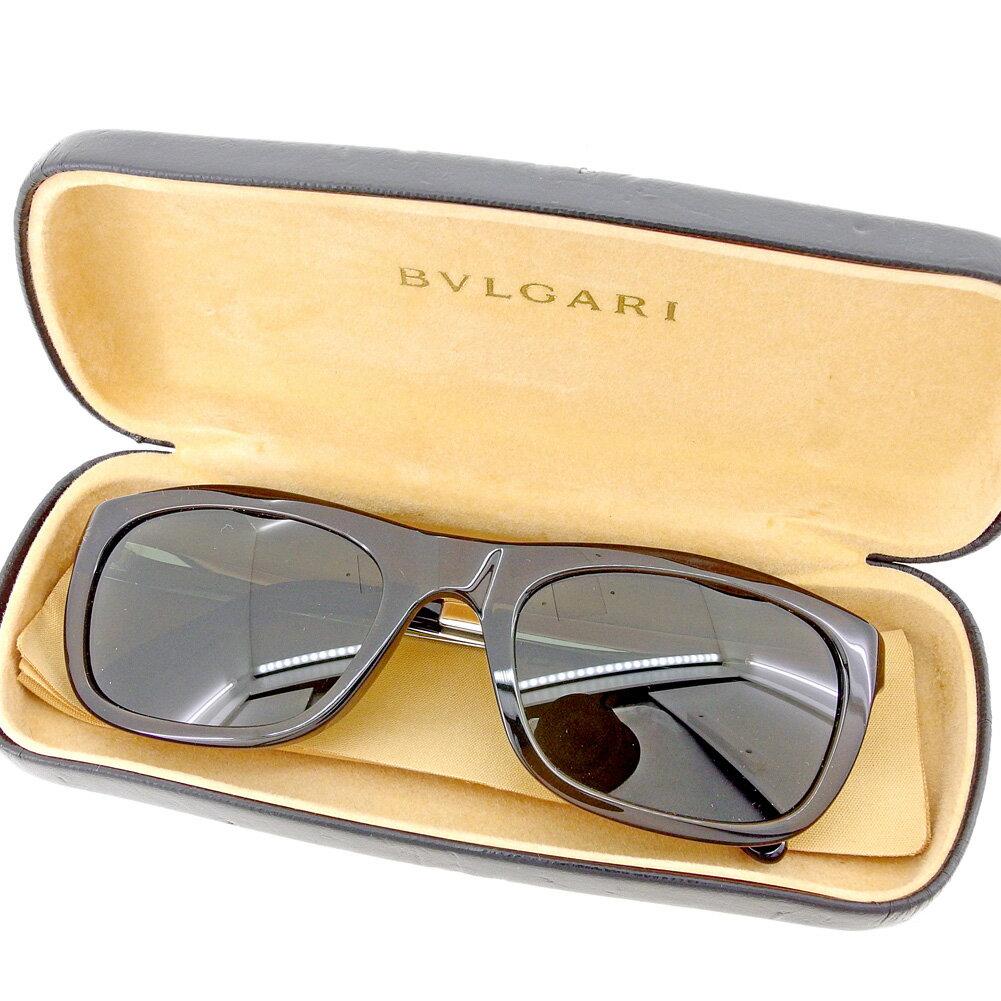 ブルガリ サングラス メガネ アイウェア クリアブラック×ブラウン×シルバー系 【中古】 T4256s