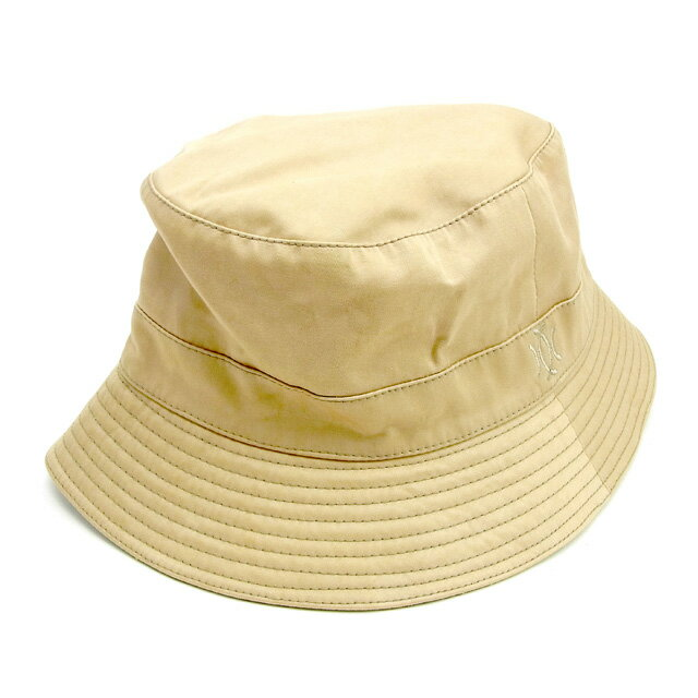 【中古】 【送料無料】 エルメス HERMES 帽子 メンズ可 モッチ ハット ベージュ 綿60%ポリエステル30%ポリウレタン10%(裏地)アセテート10% 人気 Y7240 .