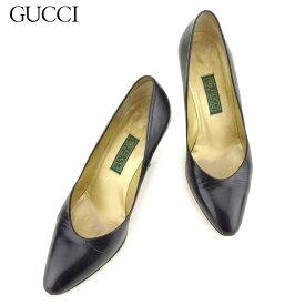 925dace0c7dc 中古 【スーパーSALE】 【20%オフ】 【中古】 グッチ Gucci パンプス シューズ 靴 レディース #35ハーフ ブラック レザー 人気  セール L2509 .