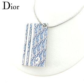 19b034278f 【中古】 ディオール Dior ネックレス アクセサリー レディース トロッター シルバー ブルー ヴィンテージ 人気 H650 .