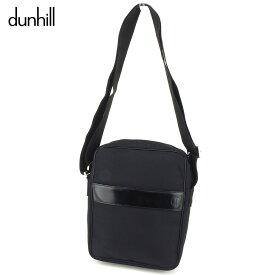 【中古】 ダンヒル dunhill ショルダーバッグ 斜めがけショルダー レディース メンズ ブラック ナイロン×レザー 人気 良品 T9211