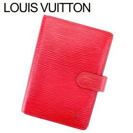 【中古】 ルイ ヴィトン Louis Vuitton 手帳カバー システム手帳 レディース メンズ アジェンダPM エピ レッド ゴールド エピレザー 人気 良品 T9456