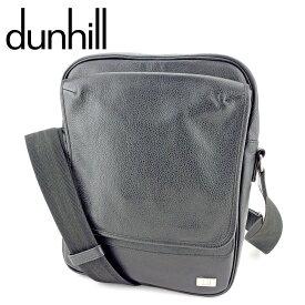 【中古】 ダンヒル dunhill ショルダーバッグ 斜めがけショルダー バッグ メンズ アボリティーズ ブラック シルバー レザー 人気 良品 P844
