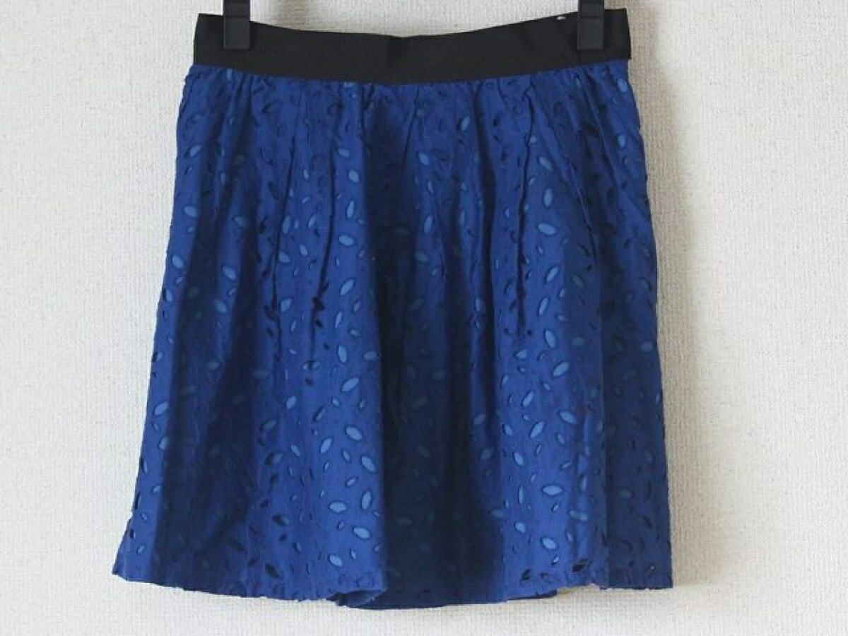 La TOTALITE(ラ トータリテ) スカート サイズ36 S レディース ネイビー×ブルー×黒【20190509】【中古】【dfn】