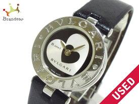 c4e7f52dee 中古 BVLGARI(ブルガリ) 腕時計 B-zero1 BZ22S レディース 革ベルト/ハート シルバー×黒【20181206】【中古】【dfn】