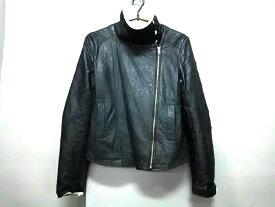 MURUA(ムルーア) ライダースジャケット サイズ99 レディース 黒×アイボリー 冬物【20190521】【中古】【dfs】