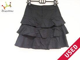 22OCTOBRE(ヴァンドゥ オクトーブル) スカート サイズ36 S レディース 黒【20190803】【中古】【dfn】