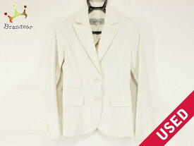 Viaggio Blu(ビアッジョブルー) ジャケット サイズ1 S レディース 白×グレー【20200106】【中古】【dfn】