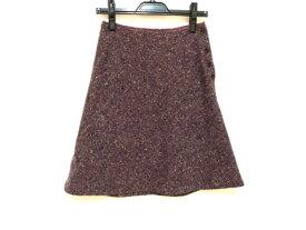 JEAN NASSAUS(ジーンナッソーズ) スカート サイズ2 M レディース パープル×マルチ modenature【20191113】【中古】【dfn】
