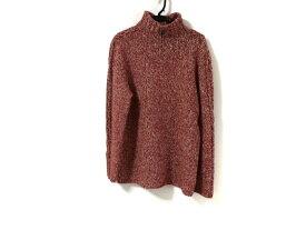 【新着】HERMES(エルメス) 長袖セーター サイズXXL XL メンズ レッド×ベージュ ハイネック【20190912】【中古】